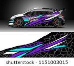 car wrap design vector  truck... | Shutterstock .eps vector #1151003015