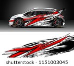 car wrap design vector  truck... | Shutterstock .eps vector #1151003045