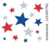 hand drawn style stars set... | Shutterstock .eps vector #1151007782