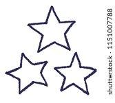 hand drawn style stars set... | Shutterstock .eps vector #1151007788