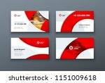 business card design. business... | Shutterstock .eps vector #1151009618
