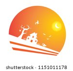 haunted house  black silhouette ...   Shutterstock .eps vector #1151011178