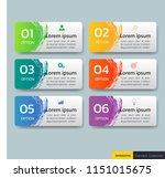 set of infographics banners... | Shutterstock .eps vector #1151015675