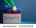 donation concept. woman... | Shutterstock . vector #1151019818