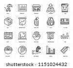 set of 20 icons such as price...