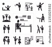 set of 13 simple editable icons ... | Shutterstock .eps vector #1151025332