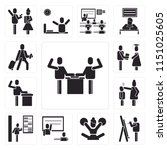 set of 13 simple editable icons ... | Shutterstock .eps vector #1151025605
