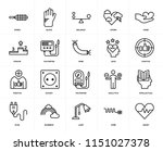 set of 20 icons such as heart ...