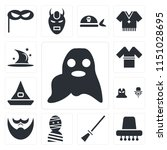 set of 13 simple editable icons ... | Shutterstock .eps vector #1151028695