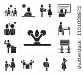 set of 13 simple editable icons ... | Shutterstock .eps vector #1151028872