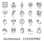 set of 20 icons such as love ...