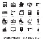 set of 20 icons such as music...