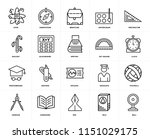 set of 20 icons such as bell ...