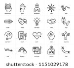 set of 20 icons such as wire ...