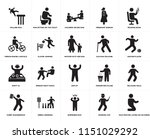 set of 20 simple editable icons ... | Shutterstock .eps vector #1151029292