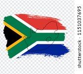 lag of south africa from brush... | Shutterstock .eps vector #1151037695