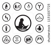 set of 13 simple editable icons ... | Shutterstock .eps vector #1151037725
