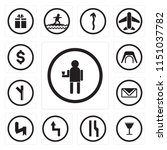 set of 13 simple editable icons ... | Shutterstock .eps vector #1151037782