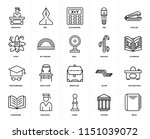 set of 20 icons such as book ...