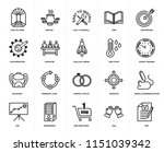 set of 20 icons such as rfp ...
