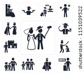 set of 13 simple editable icons ... | Shutterstock .eps vector #1151039522