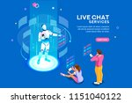 artificial intelligence  ai for ... | Shutterstock .eps vector #1151040122