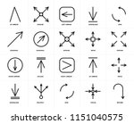 set of 20 icons such as return  ...