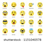 set of 20 simple editable icons ... | Shutterstock .eps vector #1151040578