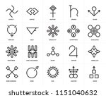 set of 20 icons such as wood ...
