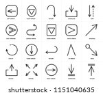 set of 20 icons such as upload  ...