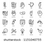 set of 20 icons such as heart ... | Shutterstock .eps vector #1151040755