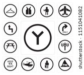set of 13 simple editable icons ... | Shutterstock .eps vector #1151041082
