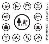 set of 13 simple editable icons ... | Shutterstock .eps vector #1151041172