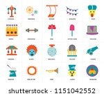 set of 20 icons such as... | Shutterstock .eps vector #1151042552
