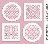 templates for laser cutting ... | Shutterstock .eps vector #1151046065