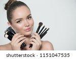 beauty model girl  makeup... | Shutterstock . vector #1151047535