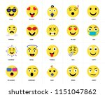 set of 20 icons such as angry ...