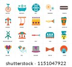 set of 20 icons such as clown ...