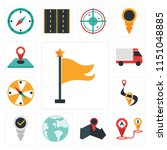 set of 13 simple editable icons ... | Shutterstock .eps vector #1151048885