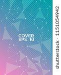 trendy pink blue report... | Shutterstock .eps vector #1151054942