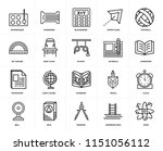 set of 20 icons such as atom ...