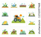 set of 13 simple editable icons ... | Shutterstock .eps vector #1151057468