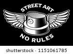 black and white illustration of ... | Shutterstock .eps vector #1151061785