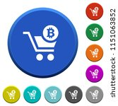 checkout with bitcoin cart... | Shutterstock .eps vector #1151063852