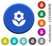flower round color beveled... | Shutterstock .eps vector #1151063858