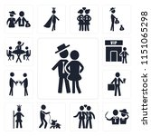 set of 13 simple editable icons ... | Shutterstock .eps vector #1151065298