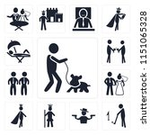 set of 13 simple editable icons ... | Shutterstock .eps vector #1151065328