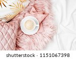 bedding with a stylish pink... | Shutterstock . vector #1151067398