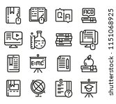education icon set  outline... | Shutterstock .eps vector #1151068925