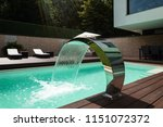 detail of swimming pool with... | Shutterstock . vector #1151072372